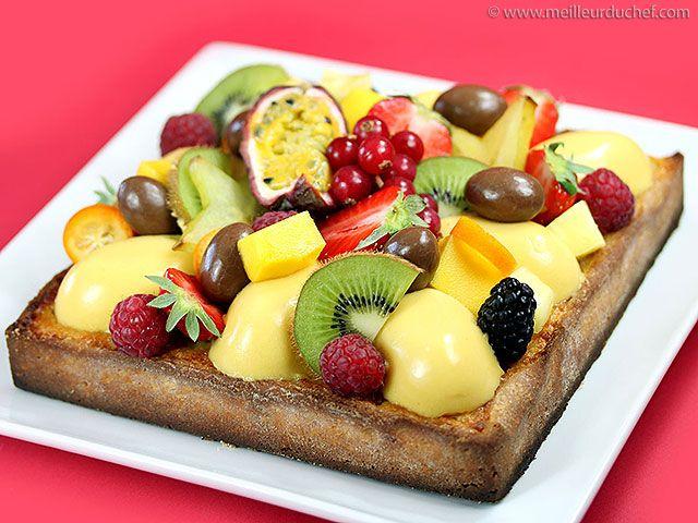 tarte aux fruits exotiques recette les fruits exotiques fruits exotiques et les fruits. Black Bedroom Furniture Sets. Home Design Ideas