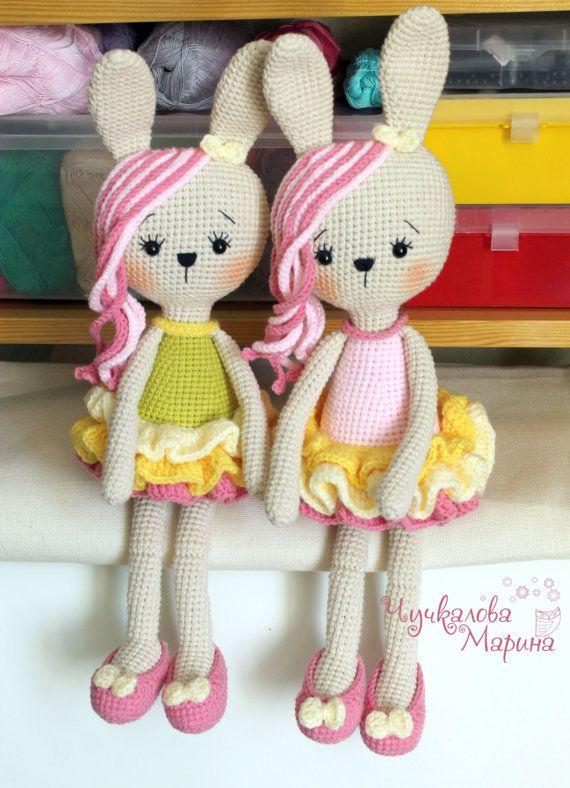 PATTERN Bunny in lush skirt PDF crochet toy | Juguetes de ganchillo ...