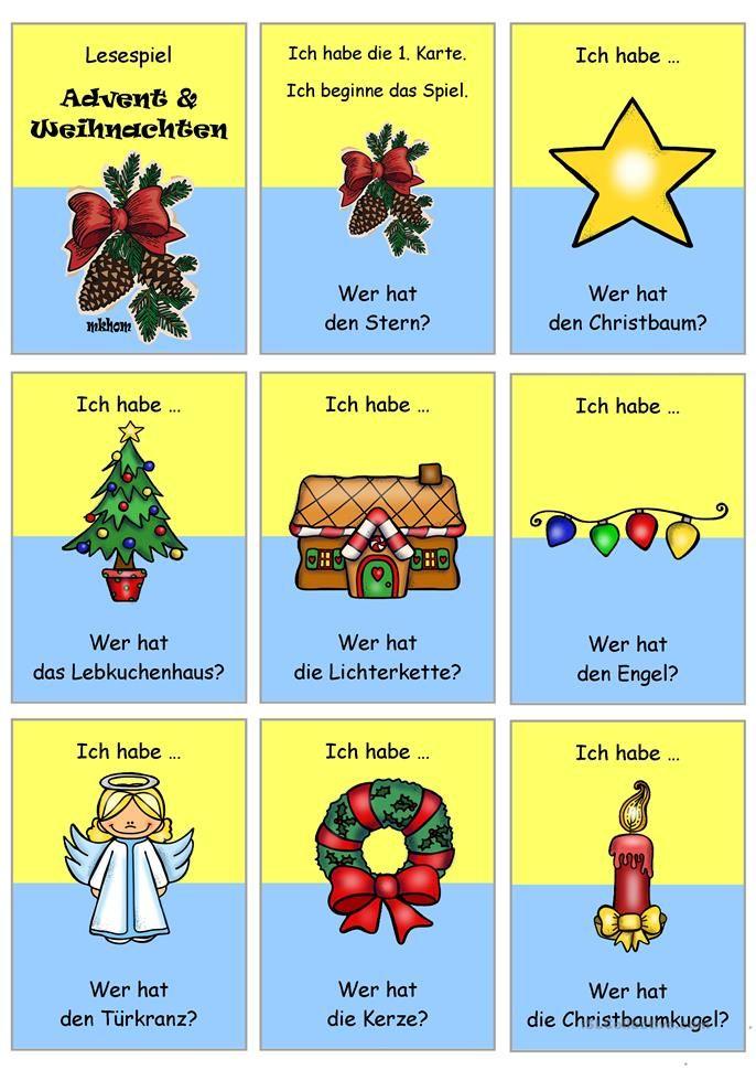 Weihnachtswörter Mit I