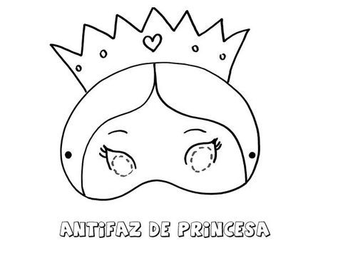 Antifaz De Princesa Dibujos Para Colorear Con Los Ninos Antifaces Para Ninos Antifaz De Animales Colorear Princesas