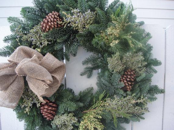 Country Christmas Wreath SALE PRICED Christmas Wreath Christmas