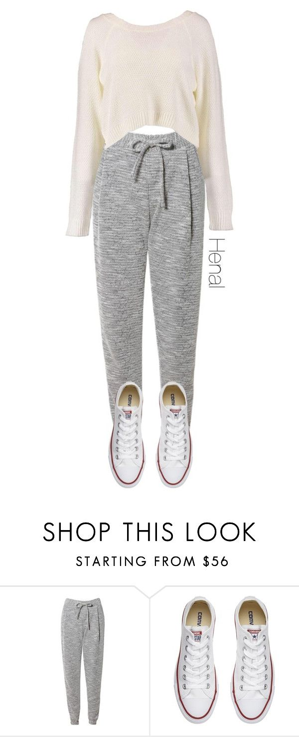 """Untitled #355"" by burningphoenix ❤ liked on Polyvore featuring Related, Converse and Boohoo"