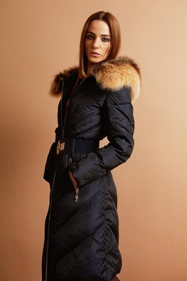 Exports Russia luxury Women long down coat winter warm outwear ...