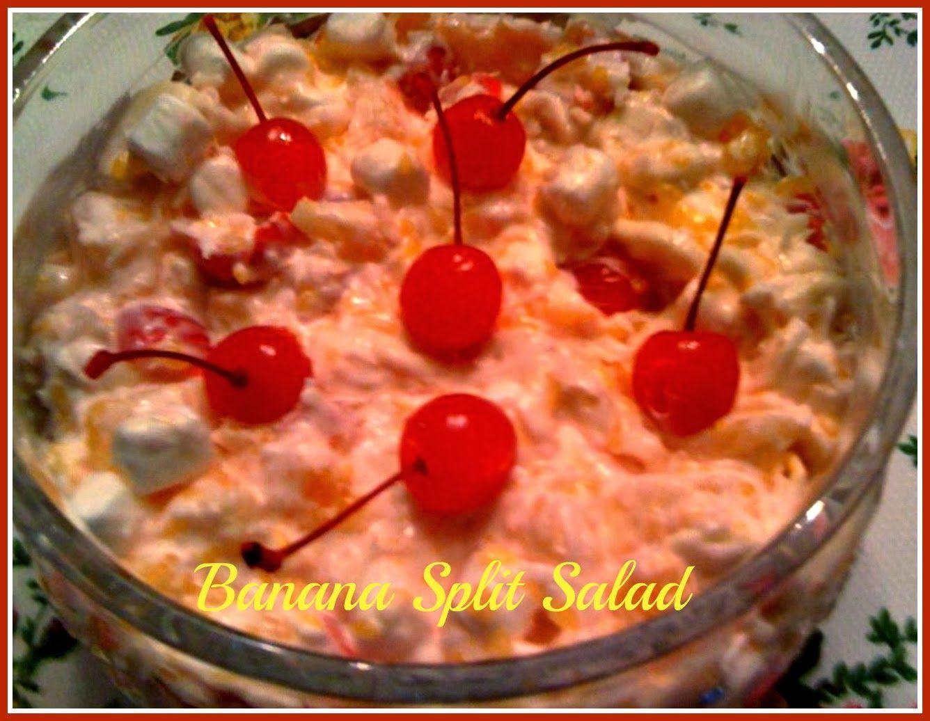 Sweet Tea and Cornbread: Banana Split Salad!
