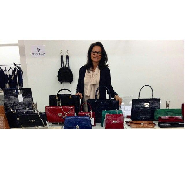"""""""Honored that FORMSHOW was my first trade show"""" Reyna Icaza #formshow #tradeshow #newyork #fashion #nyfwss15 #designers #reynaicaza #followthebuyers #picoftheday #photooftheday #handbags  #liveloveform"""