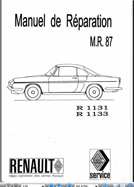 Détails sur Manuel de réparation Renault Floride