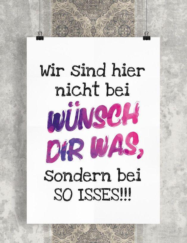 Wunsch Dir Was Kunstdruck Geschenk Wanddeko Lustige Spruche Lustige Zitate Und Spruche Witzige Spruche