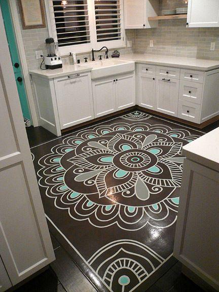 Pintar vinilo para suelo cocina decoraci n pinterest - Pintar suelo cocina ...