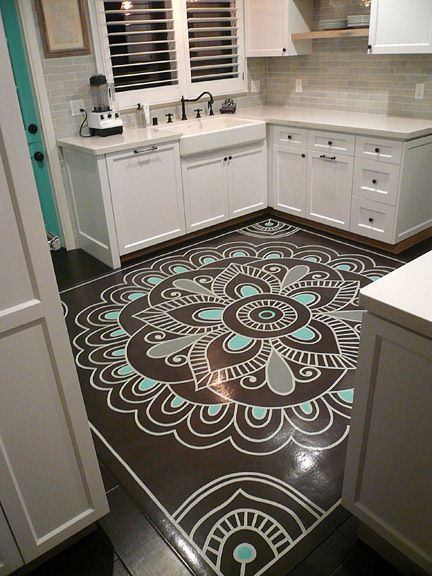 Pintar vinilo para suelo cocina decoraci n pinterest suelos cocina suelos y cocinar - Pintar suelo cocina ...