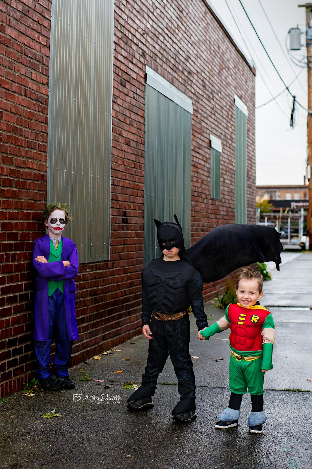 Diy Joker Make Up Batman Family Costume Toddler Robin