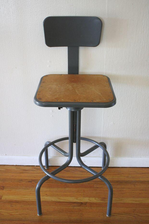Industrial Drafting Stool 4 Stool Vintage Furniture Furniture