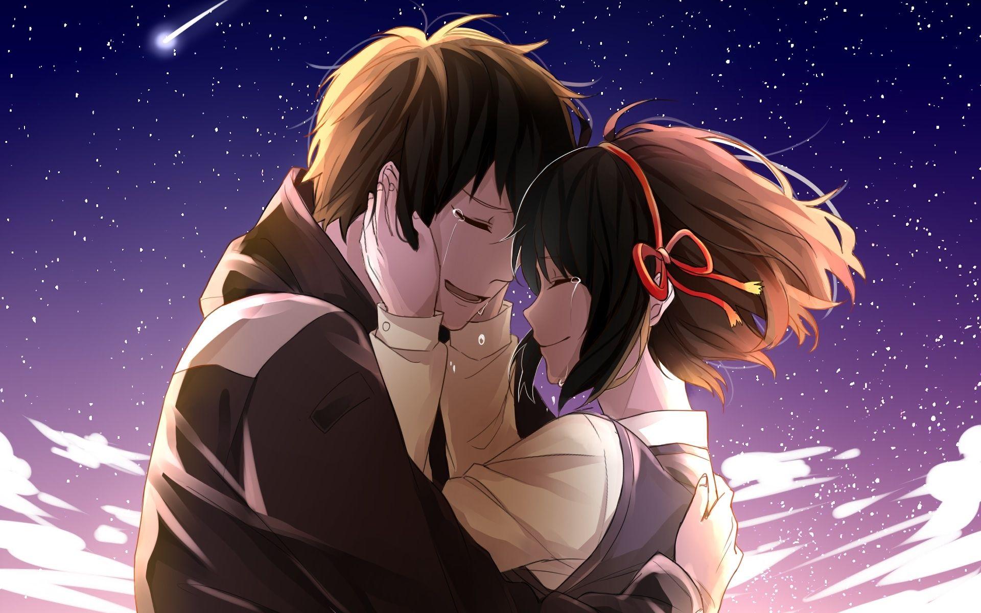 mitsuha x taki tears kimi no na wa your name taki tachibana mitsuha