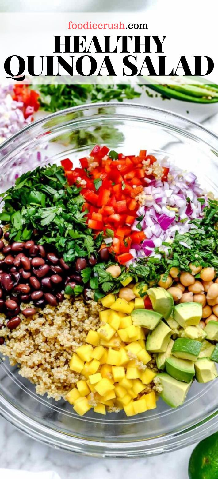 Healthy Quinoa Salad With Black Beans Foodiecrush Com In 2020 Quinoa Recipes Healthy Easy Quinoa Healthy Quinoa Recipes Healthy Dinner