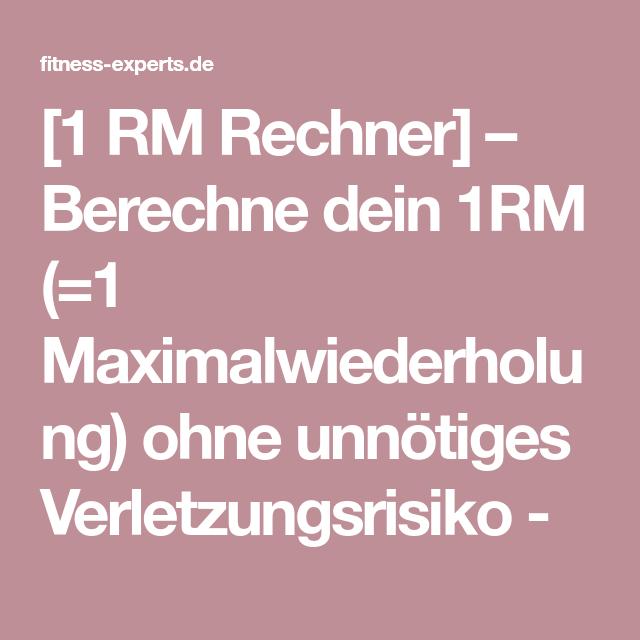 1rm rechner