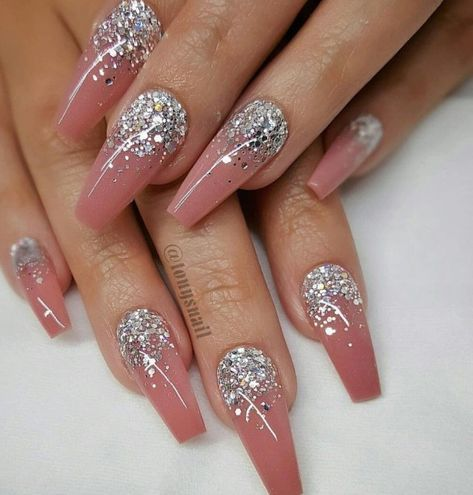 41 great inspiration  nail art with glitters to look more
