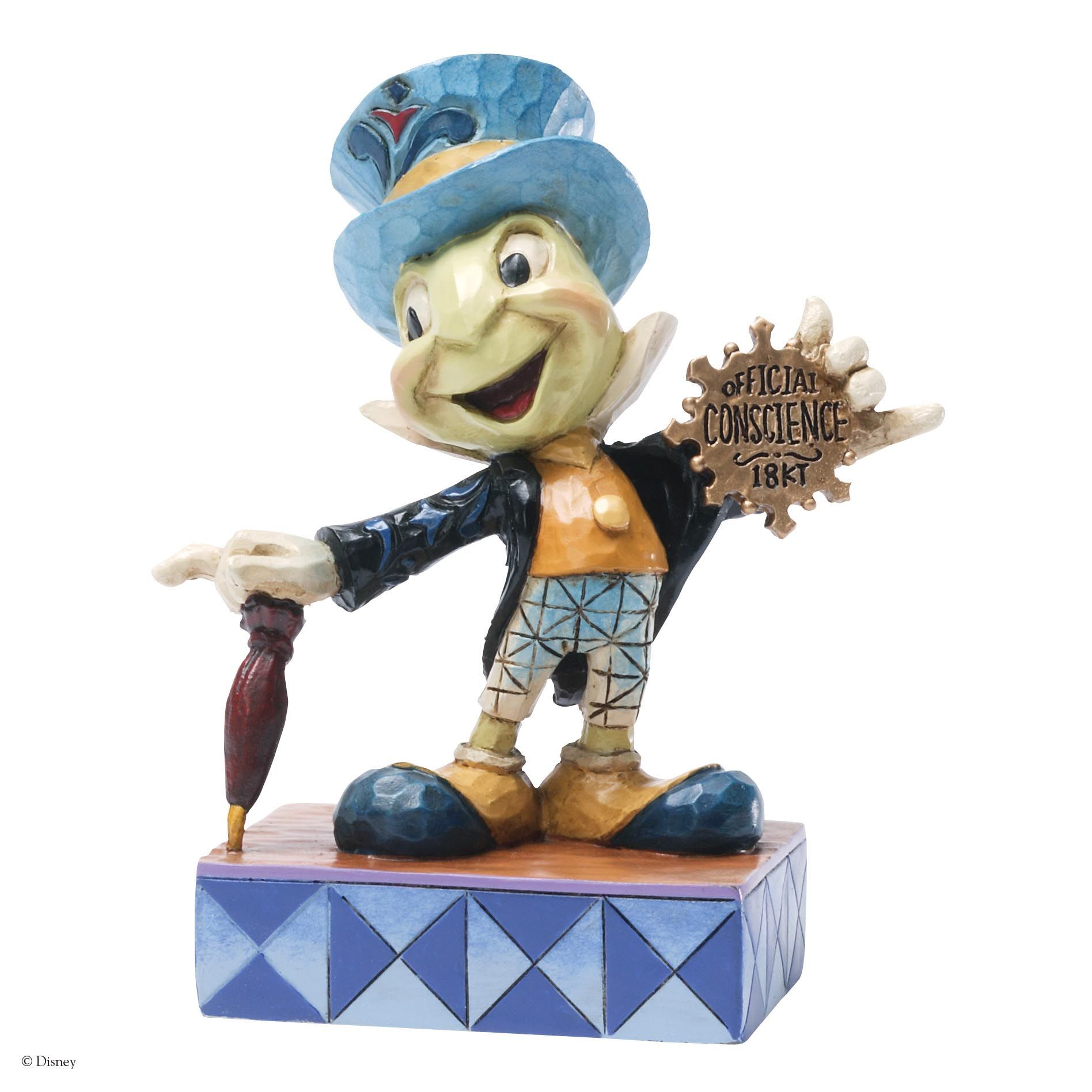 4031474 Official Conscience (Jiminy Cricket)- Jiminy Cricket gets his official Conscience badge and helps us all stay on the right track #disney #jimshore #enesco