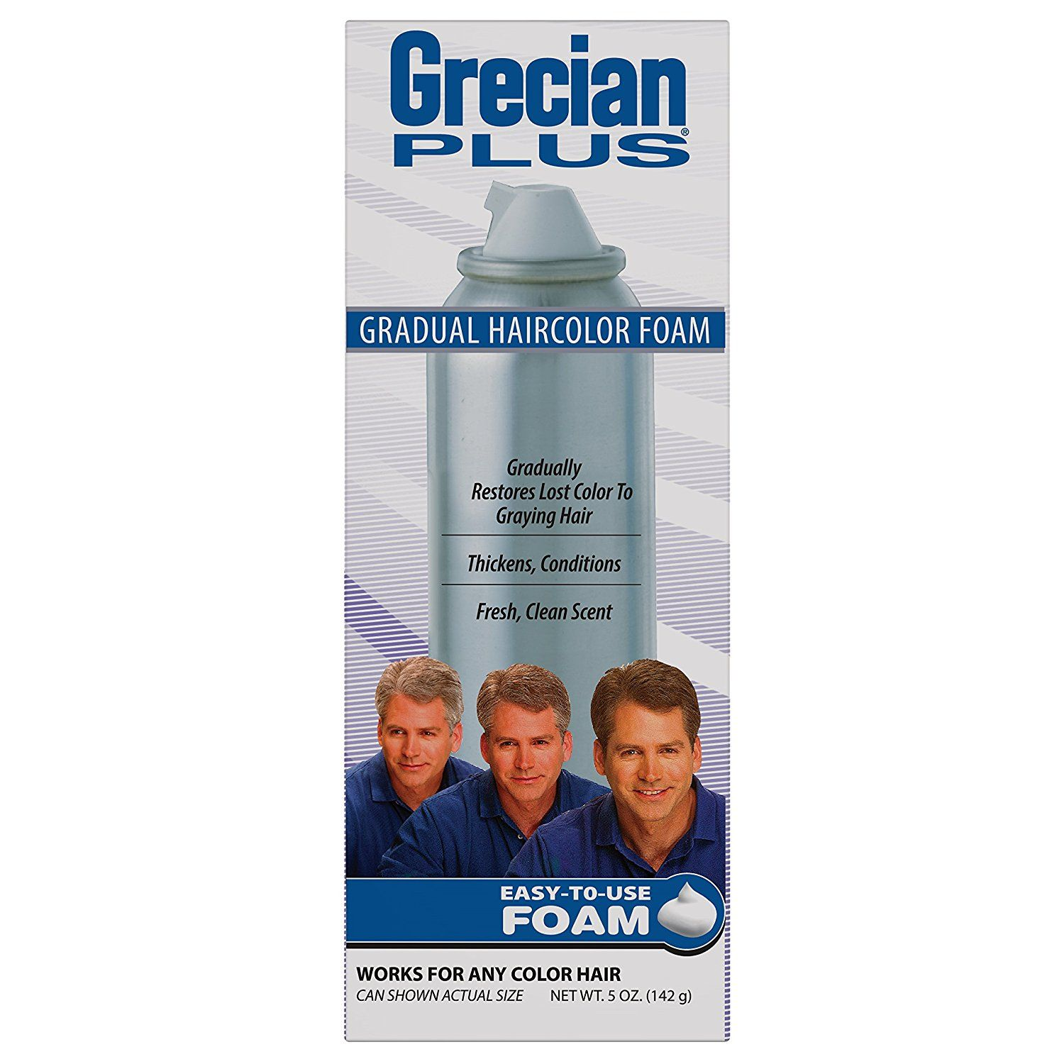 Grecian formula hair color with conditioner for men foam ounce