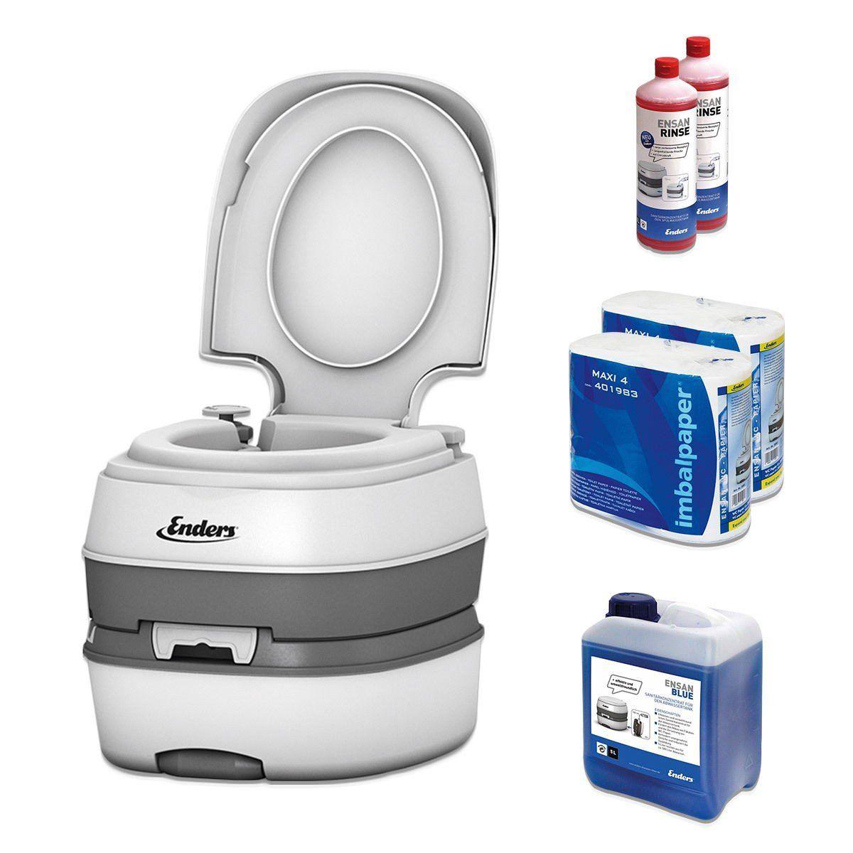 Wc Chimico Portatile Per Campeggio Starter Set Blue 5 0 Enders Deluxe Con Liquido Sanitario E Carta Igienica Water Portatile W Furgoneta Compras Sanitarios