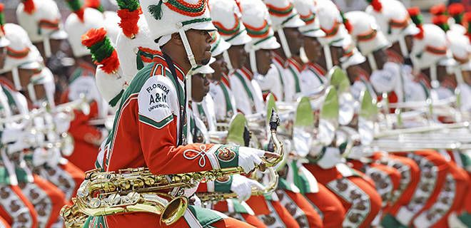 famu 2013 band  | The Florida A&M University band performs during the opening football ...