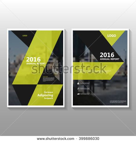 Black Yellow Abstract Geometric Poster Annual Report Leaflet