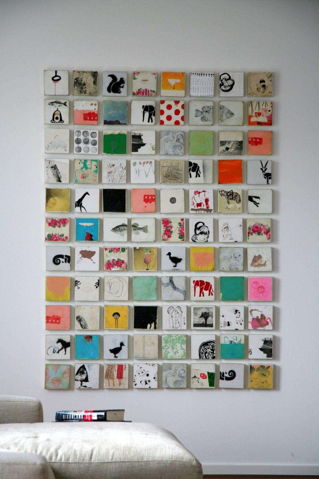 Grid Work Com Imagens Arte Pequena Mini Tela Arte Em Tela Para Parede