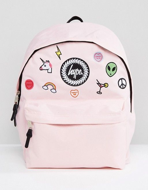 Hype Pink Patches Backpack Maisy Stuff Pinterest Backpacks