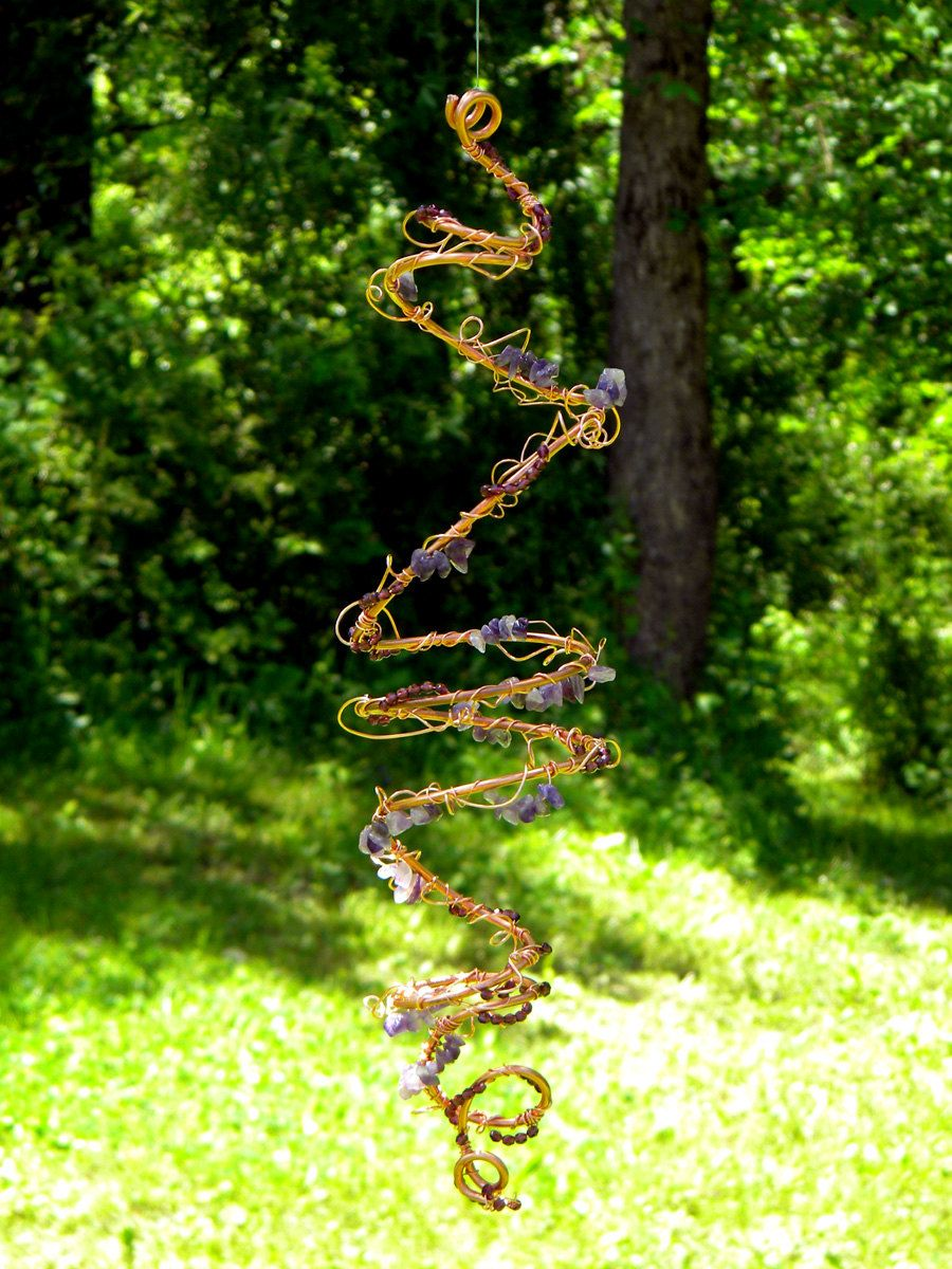 Copper Tornado Wind Spinner Spiral Indoor/Outdoor Hanging Decoration ...