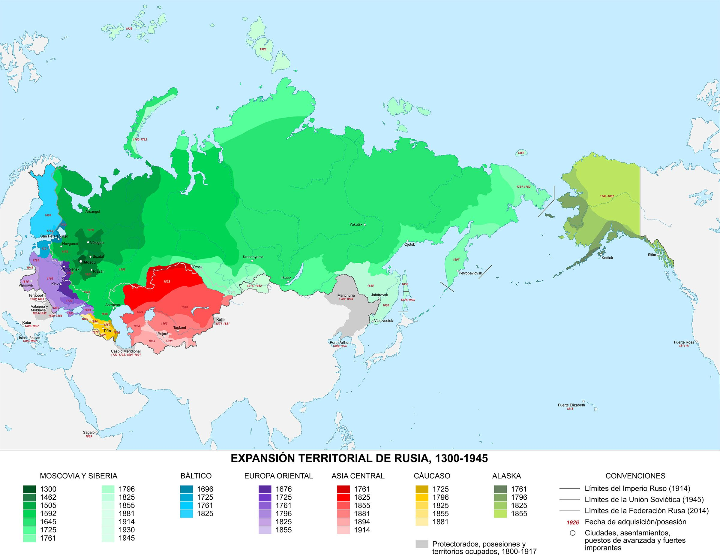 The Expansion Of Russia Vivid Maps Russia Map Map The Expanse