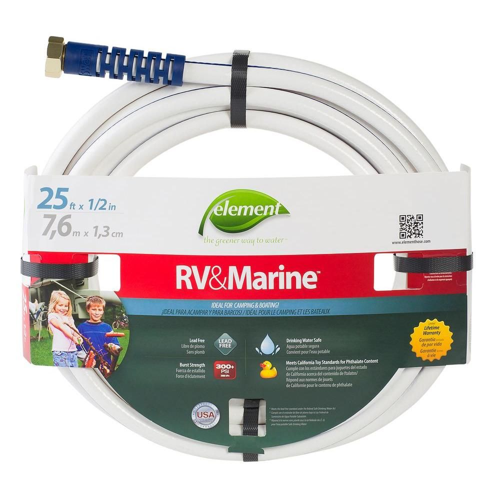 Element 1 2 In Dia X 25 Ft Boat And Camper Water Hose Elmrv12025fm Camper Hose Water Hose Rv Water