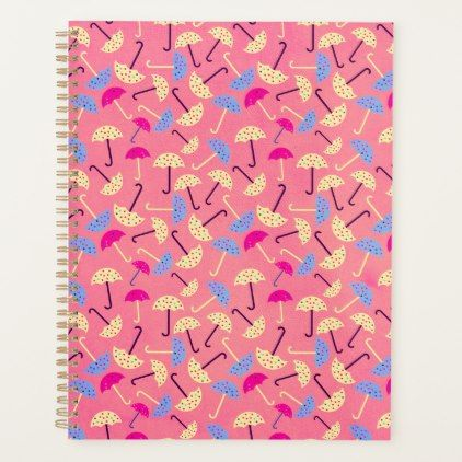 Cute Umbrellas Planner | Zazzle.com