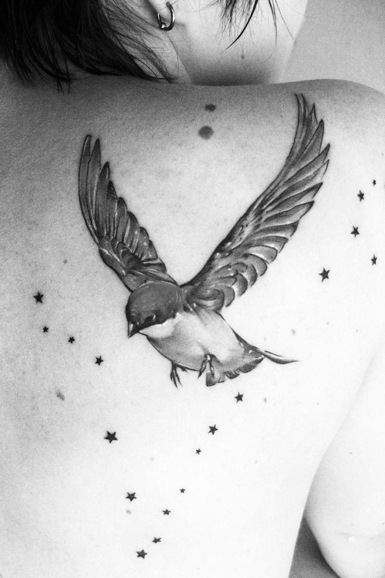 tatouage oiseau passion pour la libert et d sir de changement tatoo d c pinterest. Black Bedroom Furniture Sets. Home Design Ideas