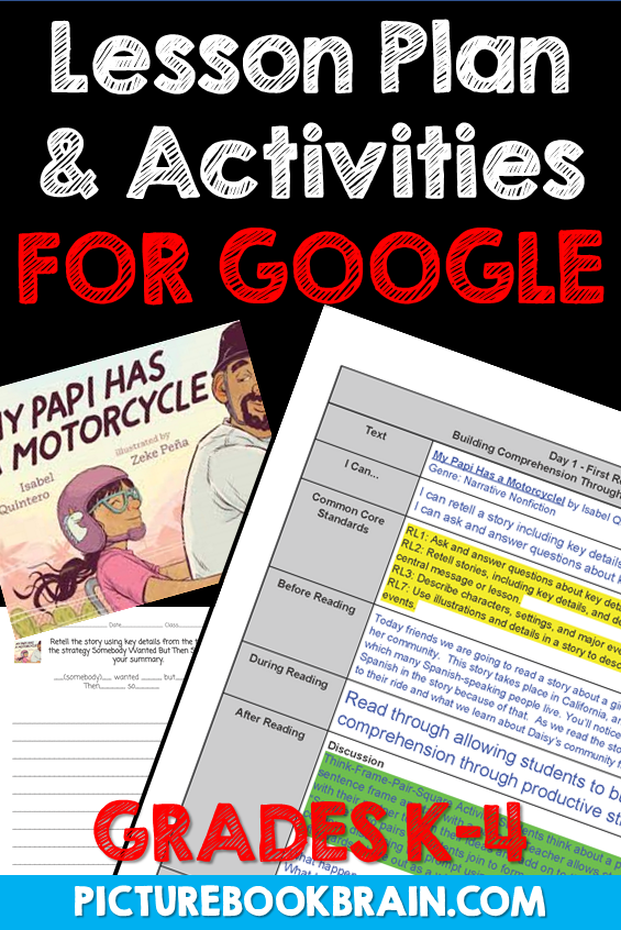 My Papi Has a Motorcycle by Isabel Quintero Lesson Plan and Google Activities