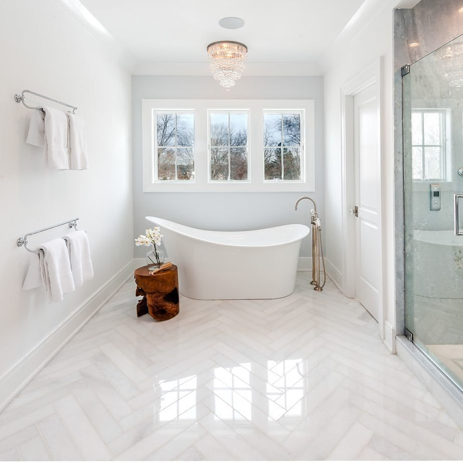 Onyx France Inc On Instagram A Bathroom That Shimmers A Beautiful Alternative To The Stark White Thas Best Bathroom Flooring Bathroom Flooring Luxury Tile