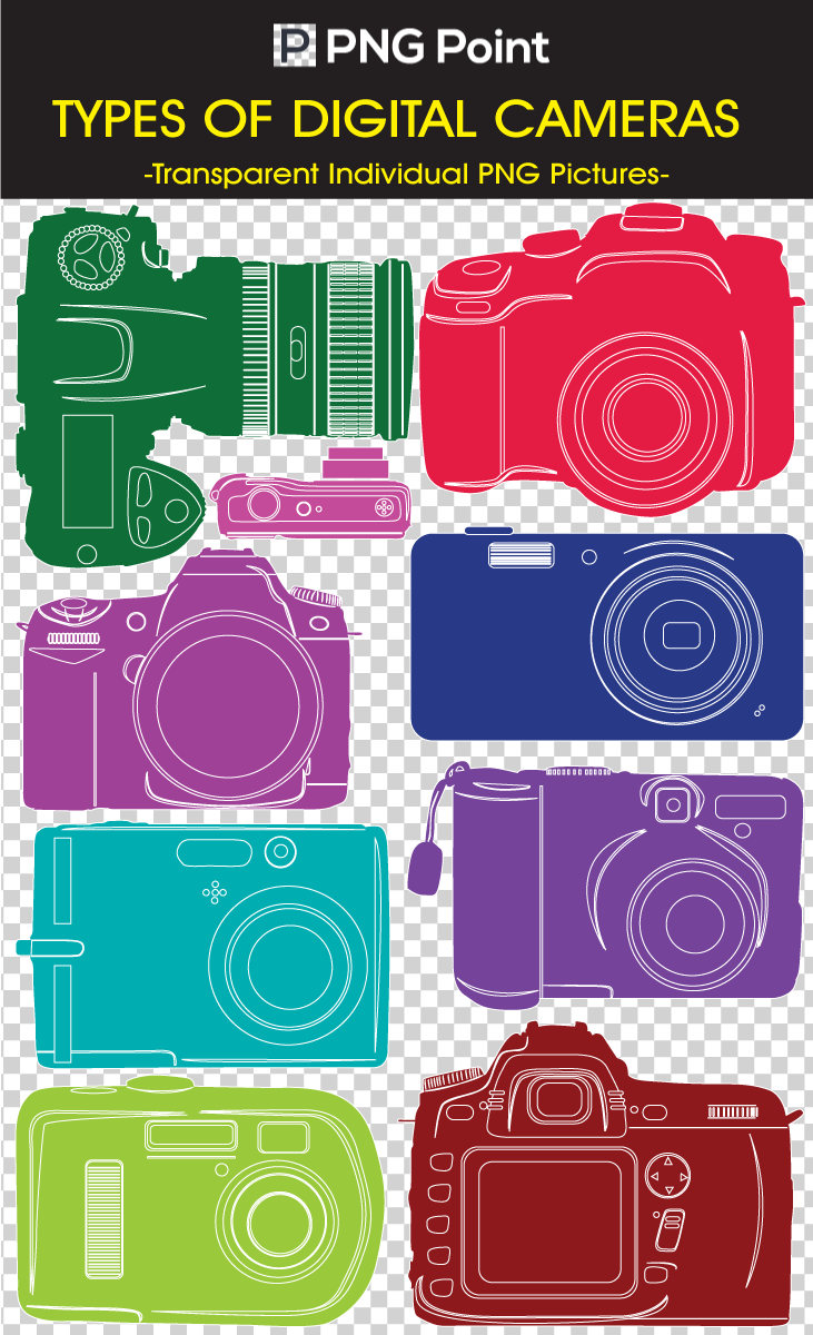 Silhouette Icons, Clip arts and images of different types