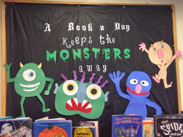 Nerd Craft Librarian Monsters Display Library Life