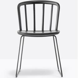 Photo of Pedrali Nym 2850 Stuhl weiß lichtgrau lackiert Pedrali