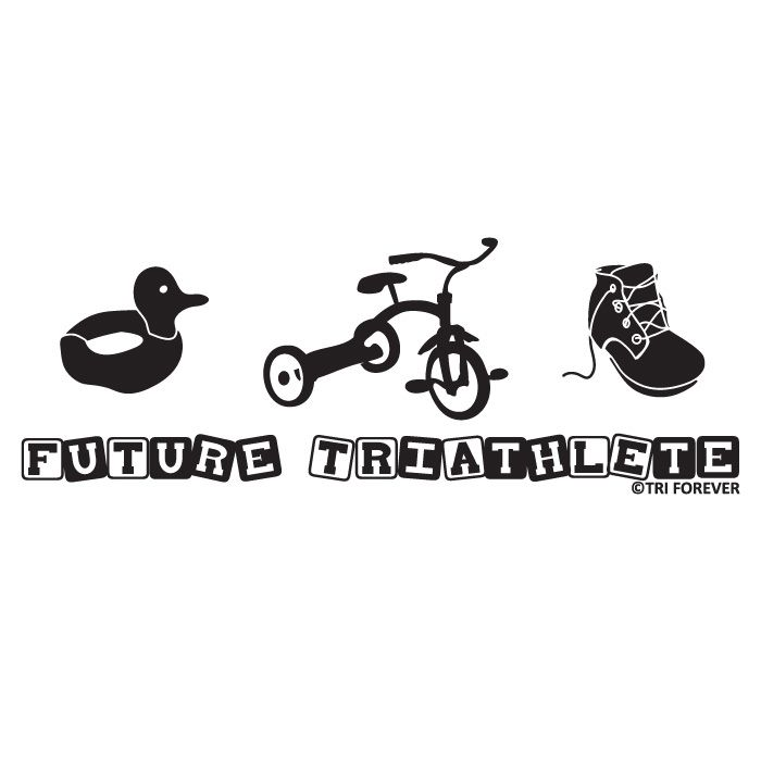 be30fa95935 Future Triathlete Baby T-shirt from GoneForaRUN.com