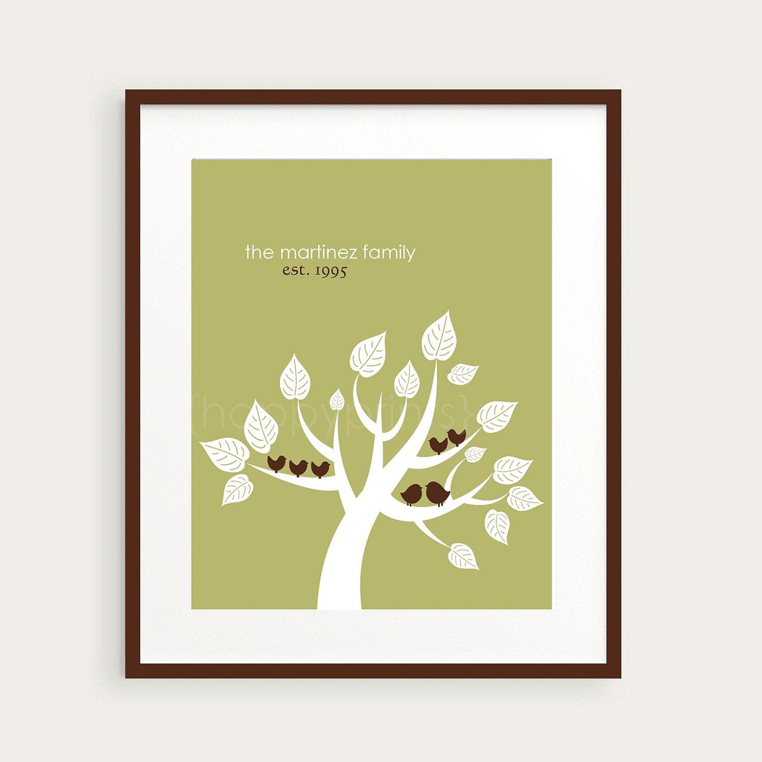 Personalized Family Tree Wall Art Home Decor by happyprintsshop ...