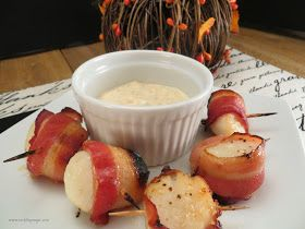 Melding Magic: Bacon Wrapped Scallops with Cilantro-Chili Mayo