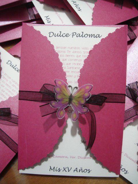 Busco Ideas Para 15 Años Primaveral Flores Y Mariposas