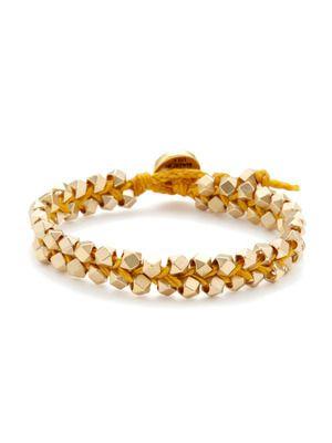 Ettika Jewelry Faceted Gold Nugget Woven Friendship Bracelet