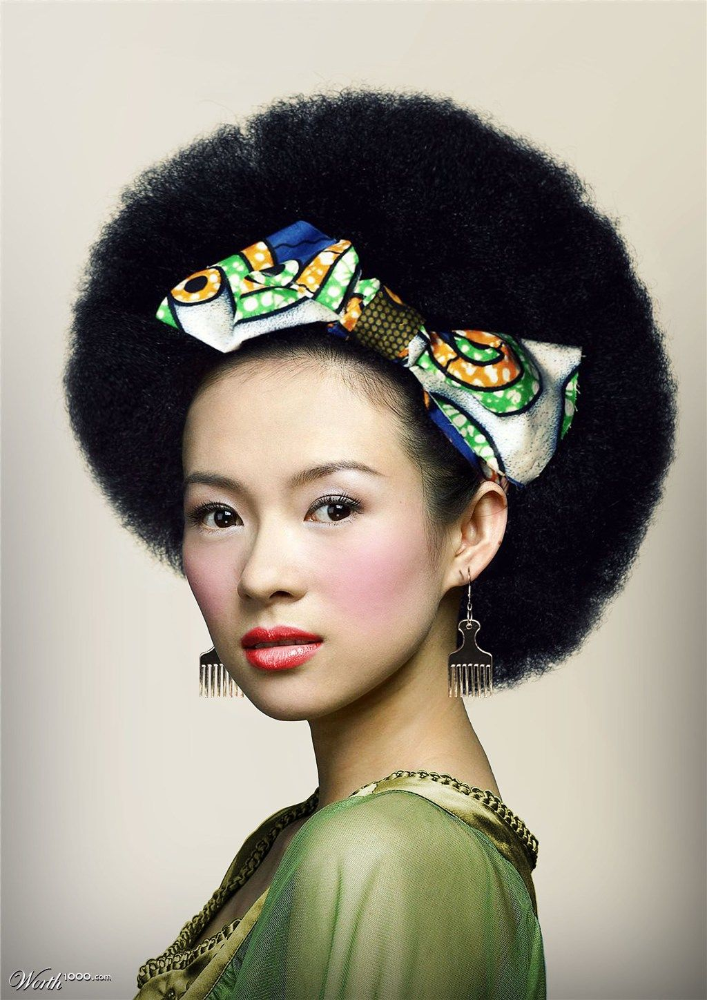 Ziyi Zhang Oriental Afro Hair - Wow!!! Afro hair is trending across cultures!