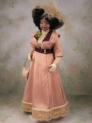 Edwardian Era Dollhouse Miniature Porcelain Woman Doll By Terri Davis Dollhouse Doll Clothes Dolls Doll House