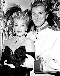 """Lana Turner & Fernando Lamas in """"The Merry Widow""""."""