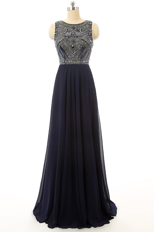 Discount Blue Prom Dresses, Long Prom Dresses,A-line/Princess Prom ...