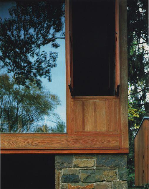 Window detail at Louis Kahn\u0027s Fisher House, Philadelphia 1967