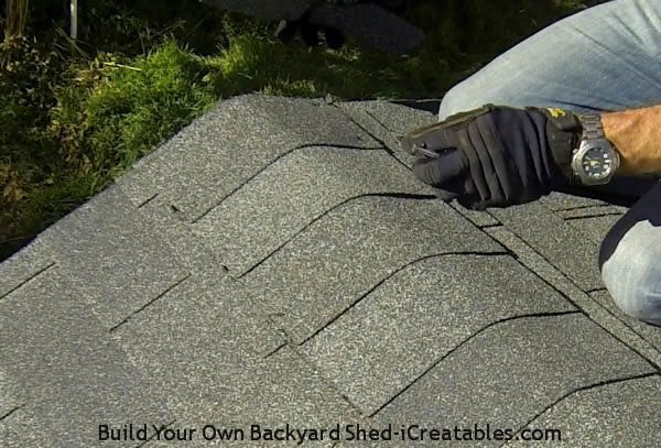 How To Install Asphalt Shingles Nailing On Ridge Cap Building A Shed Installing Roof Shingles Shed
