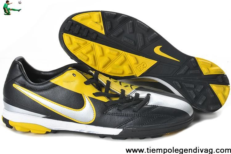 new arrivals 6787c 75705 Buy Discount Nike T90 Shoot IV TF Black Yellow Silver Soccer Boots For Sale