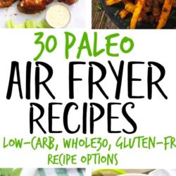 30 Paleo Air Fryer Recipes (Gluten Free, Whole30) #airfryerrecipes