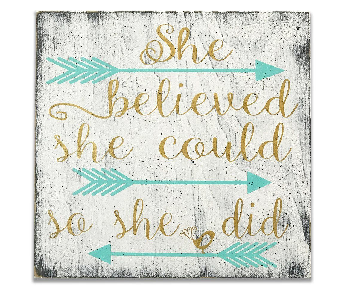 She Believed She Could So She Did Girls Kids Room Decor images